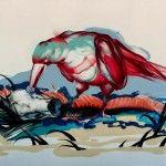 Titi Freak cuenta con una gran colección de pinturas digitales, dibujos y collages en diversas superficies y objetos.