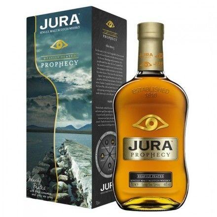 En la tienda online gourmet y delicatessen Érase un gourmet vendemos este whisky escocés marca  Jura Prophecy con estuche incluido. Disfruta con moderación de este whisky con notas intensas de turba con canela fresca y espuma de mar especiada. Medalla de Platino de los BTI 2012 Awards: