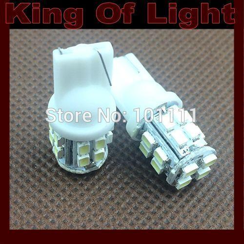 500X 12V Car Auto LED lights 20SMD T10 20 leds smd 194 W5W 1206 Wedge LED interior reading Light Bulb Lamp Free shipping