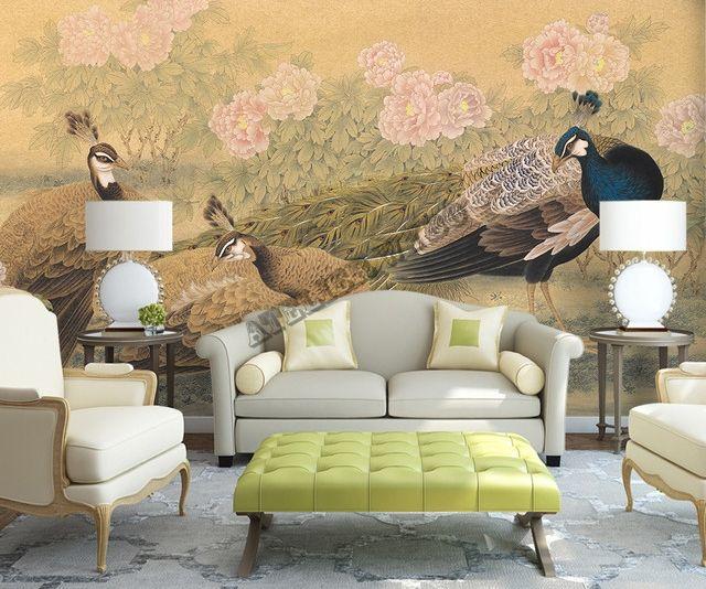 Decoration D Interieur Peinture Asiatique Ancienne Papier Peint