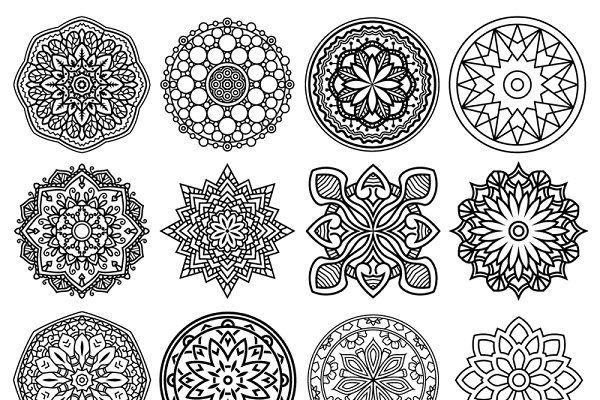100 Vector Mandala Ornaments - Illustrations