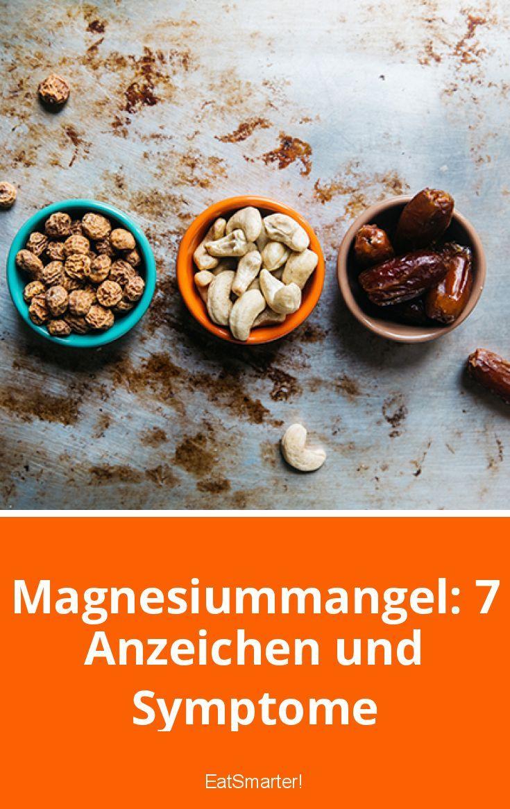 Magnesiummangel: 7 Anzeichen und Symptome | eatsmarter.de