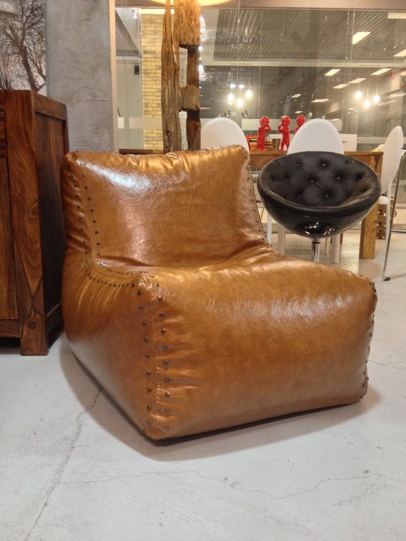 1000 Ideas About Leather Bean Bag Chair On Pinterest