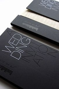 Black wedding invite