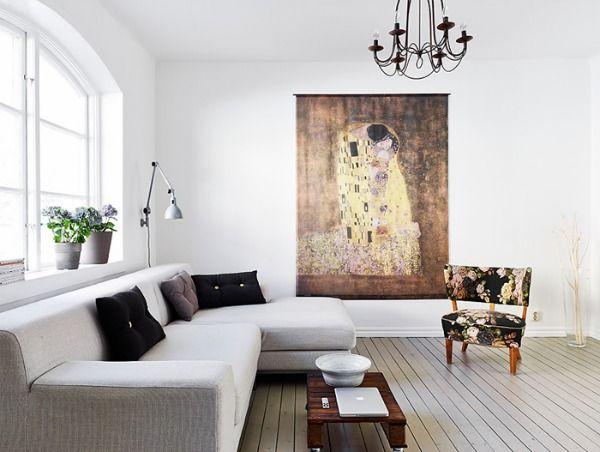 25 beste idee n over woonkamer kunstwerk op pinterest woonkamermeubels woonkamer - Idee schilderij living ...