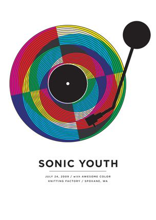 The Small Stakes: Music Posters // Sonic Youth // #color #recordPlayer