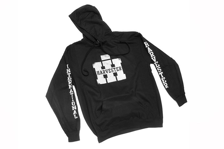 IH Logo Sweatshirt Pullover Hoodie with Sleeve Printing - International Scout Parts - Scout II Parts - Your Authorized IH Lightline Dealer