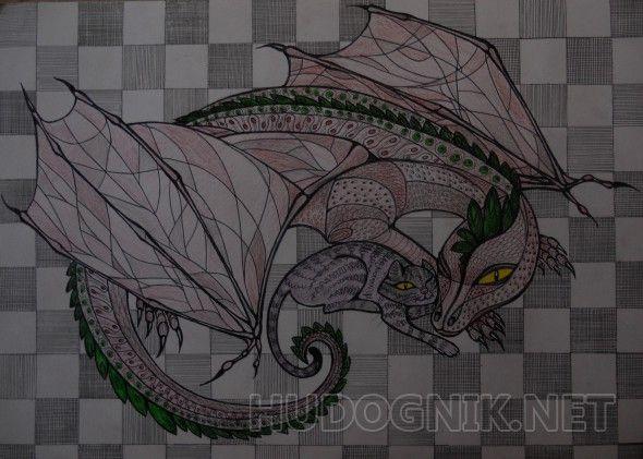 Дом для кошки и дракона Иллюстрация к одноименному фантастическому рассказу Макса Фрая.