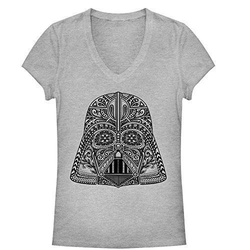 Star Wars Ornate Vader Helmet Juniors Graphic V Neck ** You can get more details by clicking on the image.
