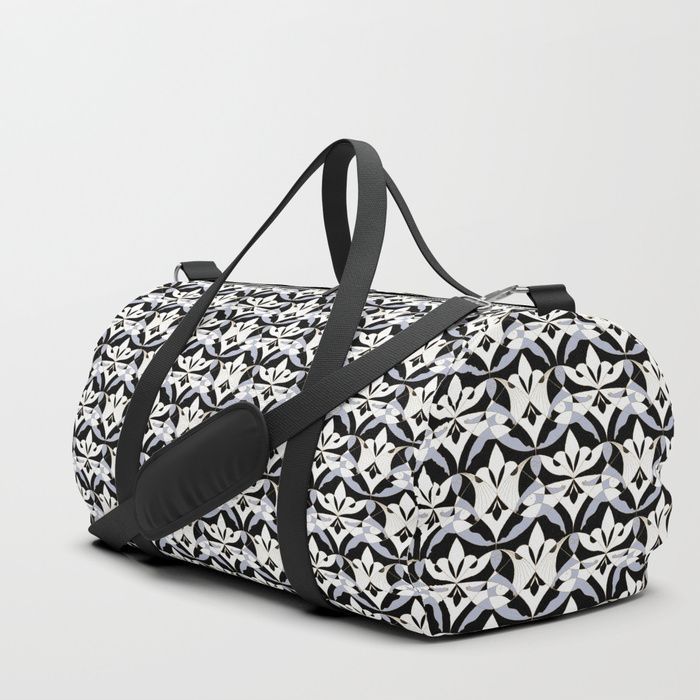 We upped the Duffle Bag game. Your new favorite gym and travel bags feature crisp printed designs on durable poly poplin canvas. Constructed with premium details for ultimate comfort. Available in three sizes.     - Durable poly poplin, canvas-like exterior  #Woman #Girls #Cubism #Lady #girly #Sisterhood #Lis #Flower #Interwoven #Black #xenon #blue #Mia #society6 #Duffle #Bag