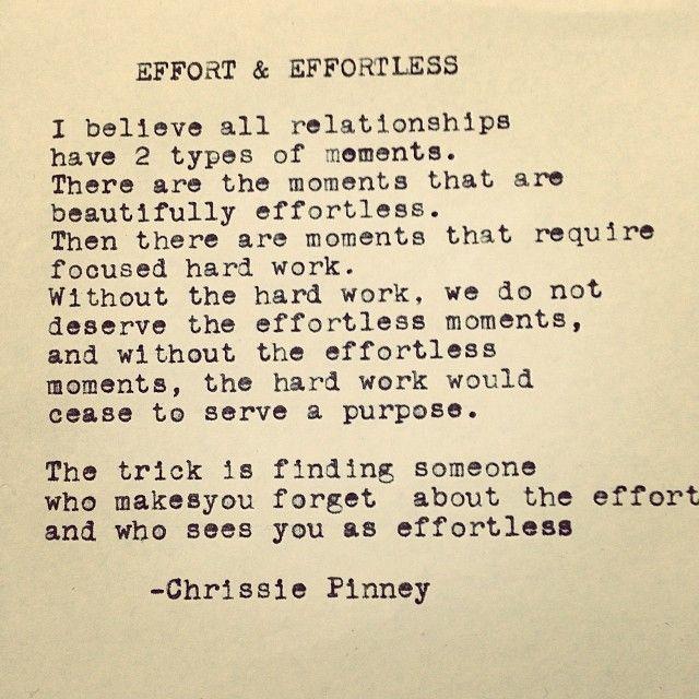 Effort & Effortless.