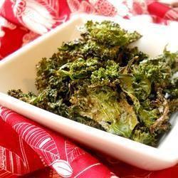 Healthy kale crisps @ allrecipes.co.uk