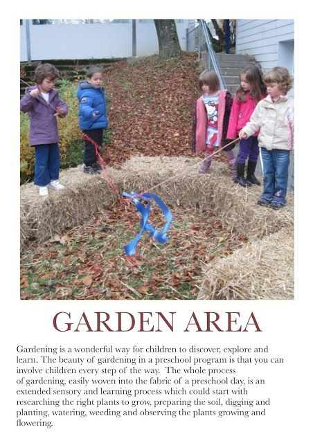 Gardening Poster. For more Play pins visit: http://pinterest.com/kinderooacademy/learning-through-play/ ≈ ≈