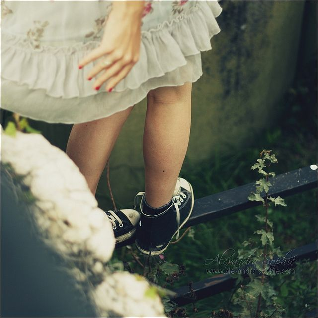 Climb something in a dress and high tops.