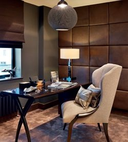 25 best ideas about fabric covered walls on pinterest for Interior designers hampshire