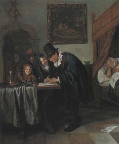 Jan Havickszoon Steen (Leiden 1626 – Leiden 1679) Doctor's Visit
