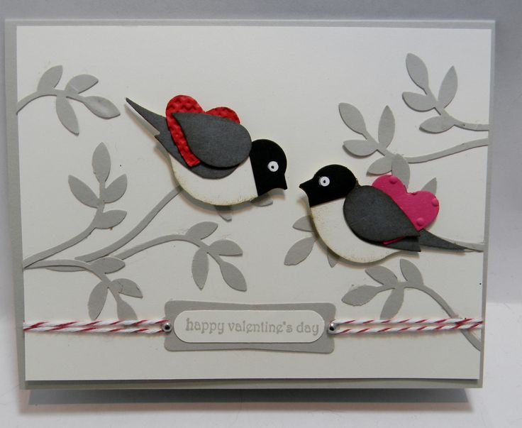 Stampin' Up! bird valentine card: