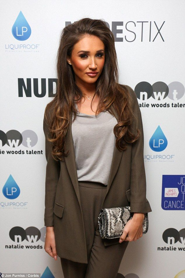 Touch of glam: New TOWIE recruit Megan finished off her date night look with a full face o...