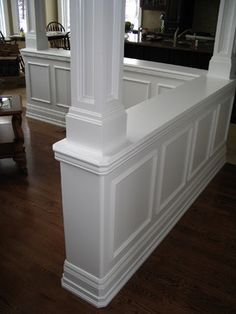 Half Walls with Columns | Half Wall Columns http://www.houzz.com/half-wall-with-column