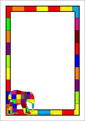 Elmer A4 page borders (SB4507) - SparkleBox