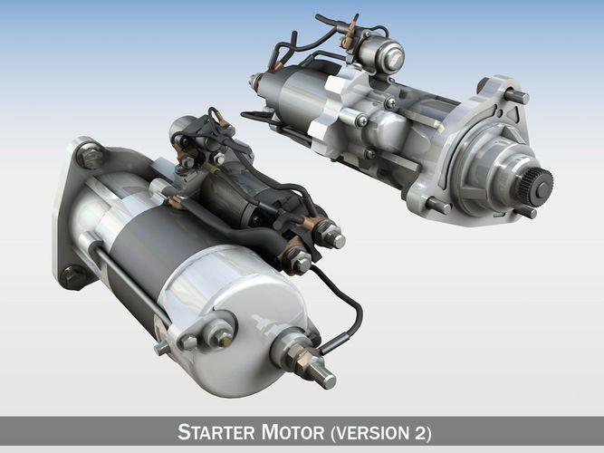 starter motor 02 3d model obj 3ds fbx c4d lwo lw lws 1
