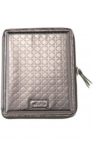 Protect your iPad and dress up your work attire with our signature embossed metallic iPad case.  $79