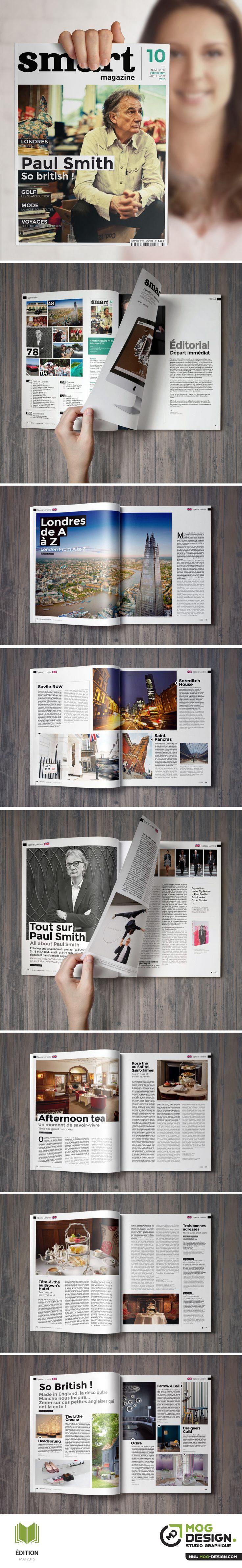 SMART Magazine. Charte graphique Mai 2015. Maquette + Mise en page : MOG DESIGN