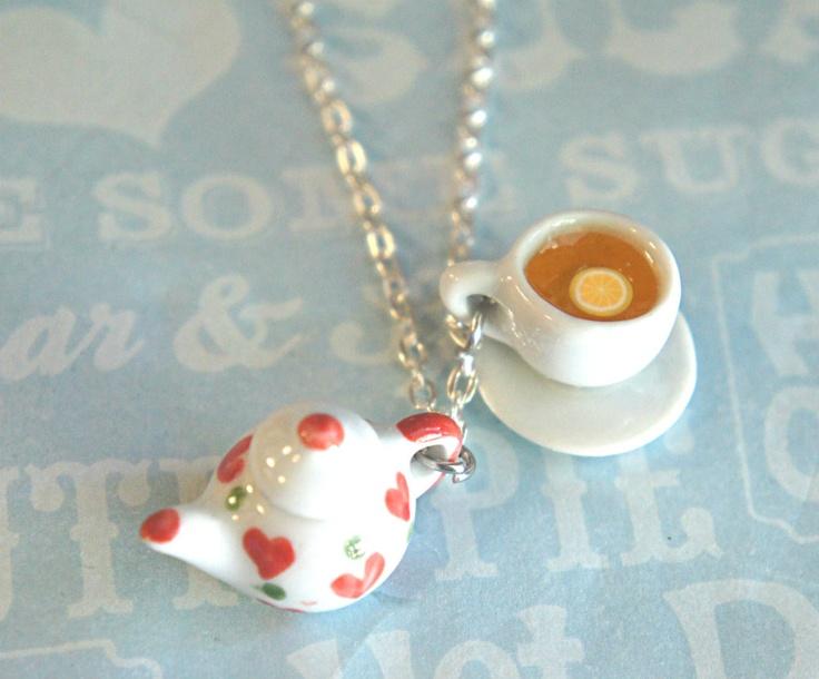 Tea set necklace = WANT!!!!
