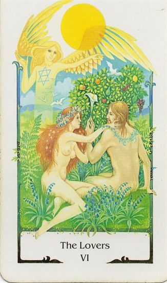 Tarot Comparisons: The Tarot of the Old Path & Thoth Deck Tarot : 6-The Lovers