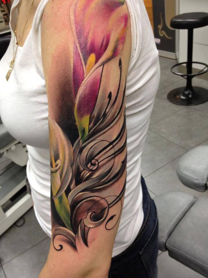 arum upper arm tattoo ink spiration pinterest