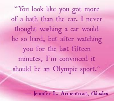 Daemon's sassiness in Obsidian (Lux Series) by JL Armentrout.