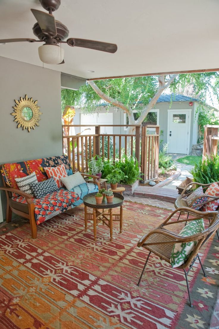 Colorful Bohemian Outdoor Space