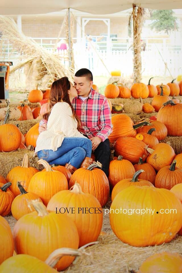 Couples pumpkin patch photography