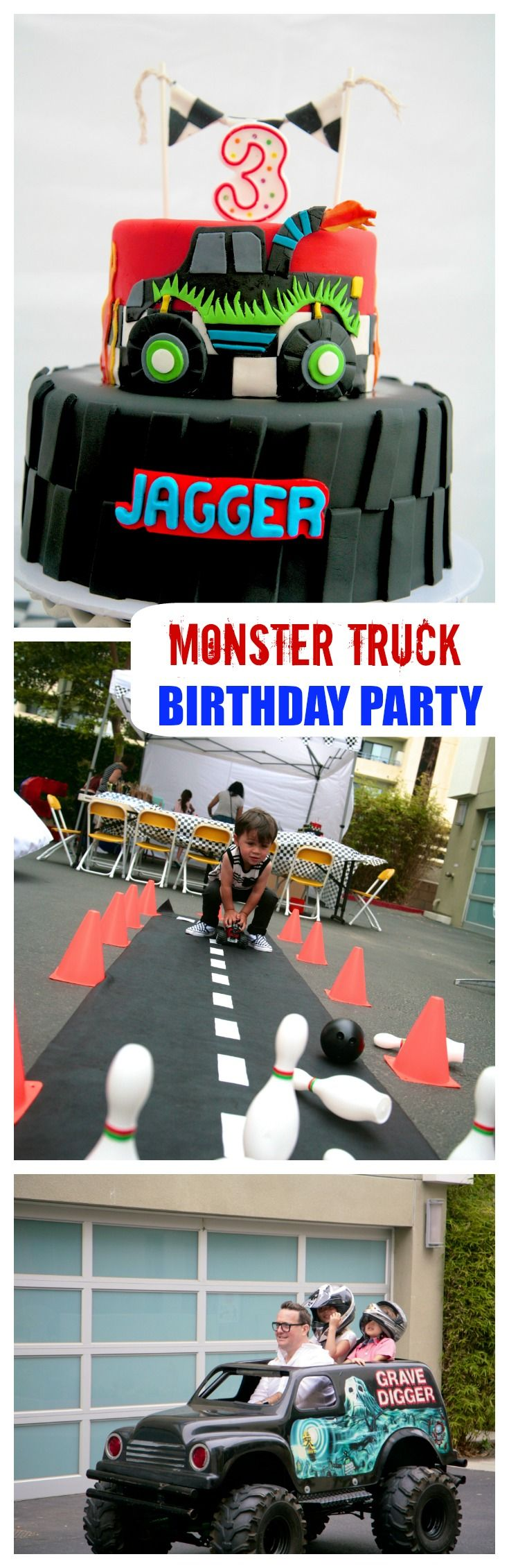 Monster Truck Party   This toddler boy birthday party is all about the Monster Trucks. If you have a Monster truck Jam fan in your house this is a must see party. #childrensparty #boyparty