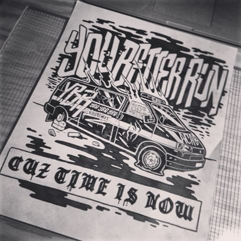 Illustration done for #acab hardcore band called You Better Run #sketch #drawing #artwork #aaaghr #artistworkout #handmade #dailysketch #handdrawn #draw #workinprogress #illustration #pencil #ink #art #instadrawing #blackandwhite #illustrator #hardcore #silesiahardcore #tshirt #design #merch #apparel