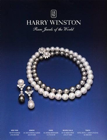 Harry winston jewels 1998 harry winston advertisements for Harry winston jewelry pinterest