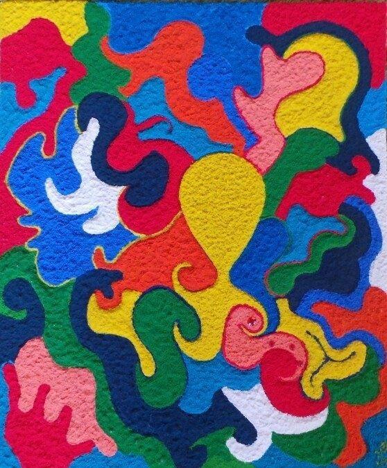 17 best images about mijn zelf geschilderde schilderijen on pinterest kerst pastel and pink - Kleur gemengde kamer ...