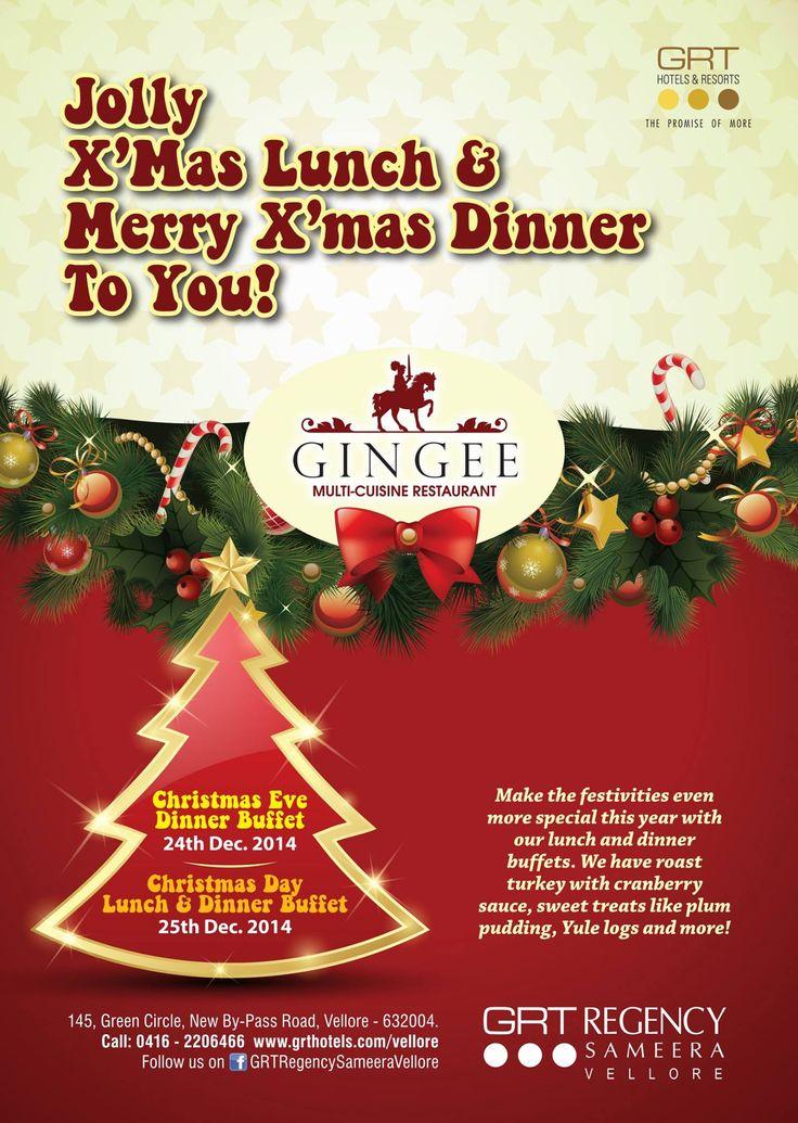 Jolly XMas Lunch Merry Xmas Dinner To You Christmas Eve