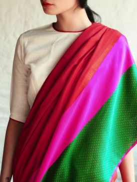 Sultanah Red Silk Saree By Raw Mango | Annie & Amrita