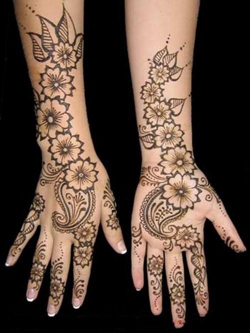 Arabic Henna Hand mehndi designs