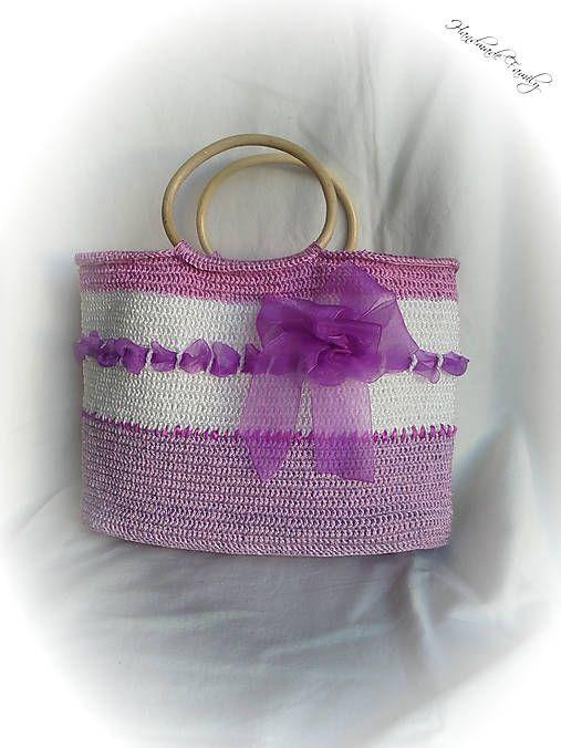 HandmadeFamily / Jarná háčkovaná kabelka