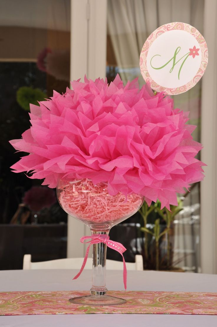 Cute table decoration idea. Could use school colors & hold up a grad picture