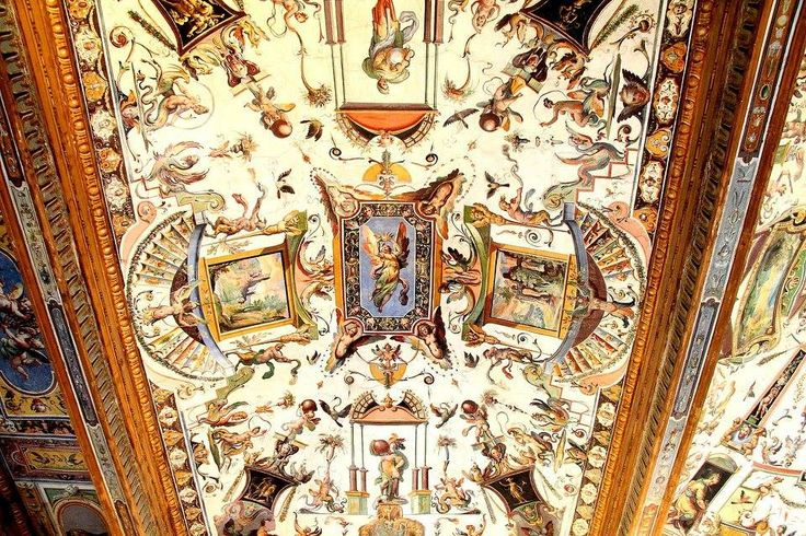 ceiling painting in the en:Uffizi museums.
