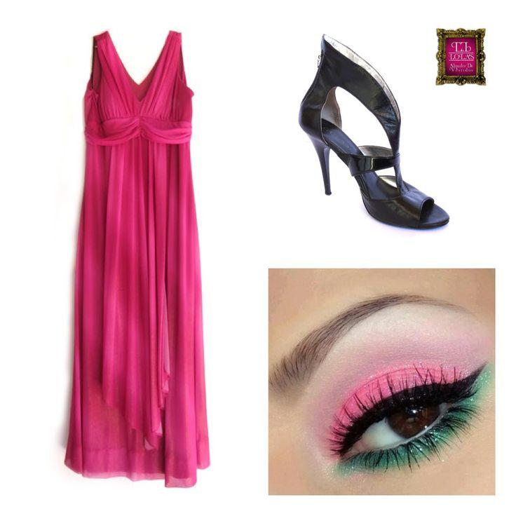 El rosa es un color vibrante, solo para las más atervidas y arriesgadas, un vestido único que te diferenciará de las demás.