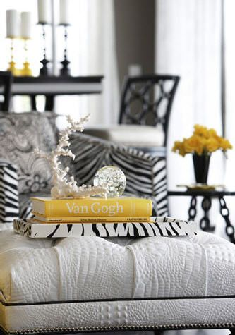 Black-White and Yellow Interiors