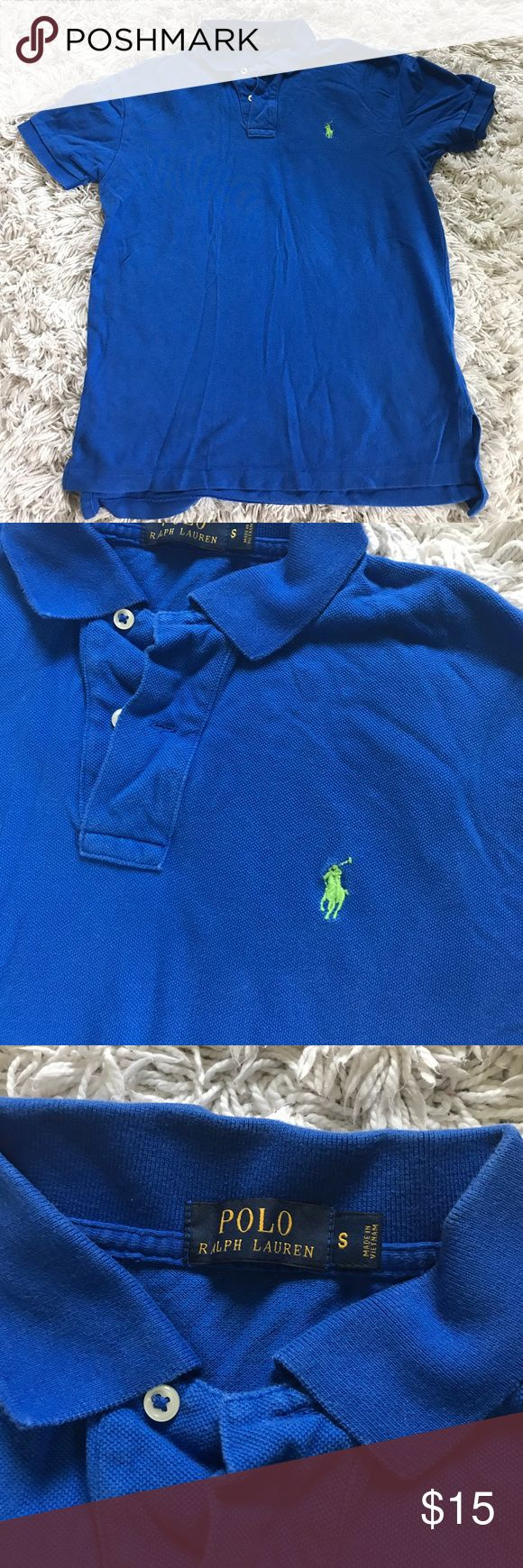 Men's Blue POLO shirt Beautiful blue with green polo logo, excellent condition Polo by Ralph Lauren Shirts Polos