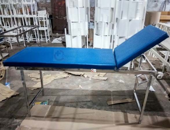 OML Brand Stainless Steel Examination Hospital Bed  As a Hospital Furniture Manufacturer and Suppliers, Product Quality is our first priority at Original Medical Equipment Company pvt.ltd.
