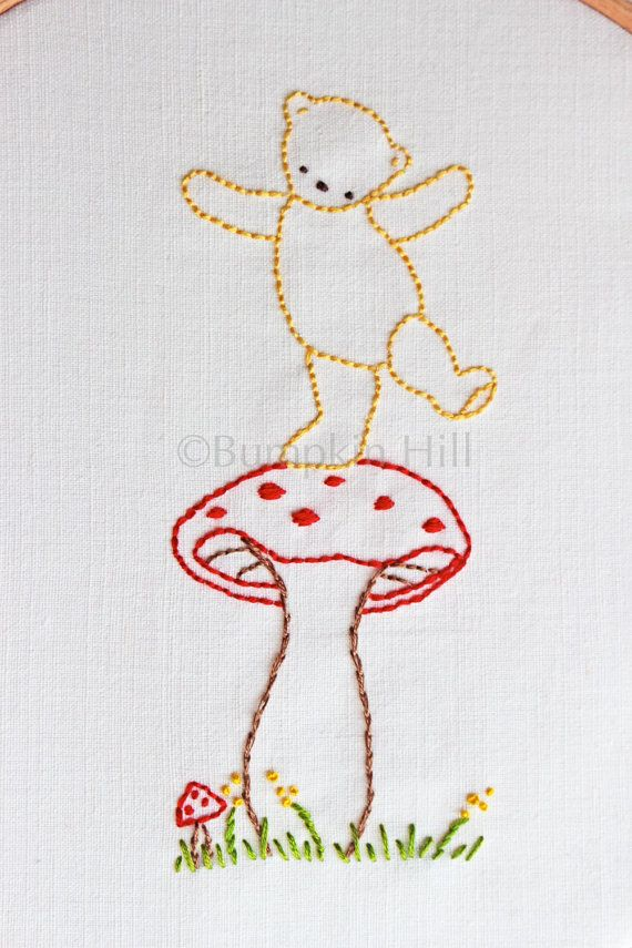 Hand Embroidery PDF Pattern  Teddy Bear Picnic - available as Instant Download from Bumpkin Hill on Etsy.