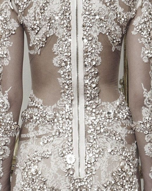 Beautiful crystal embellished lace dress - luxury fashion details // Givenchy Haute Couture