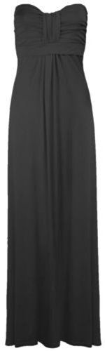 Crazy Girls Women's Boobtube Knot Front Bow Bandeau Maxi Long Dress *** Click on the image for additional details.